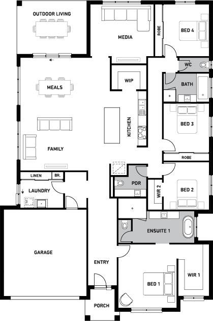 Orbit Homes New Home Plans Oceania 31 floorplan